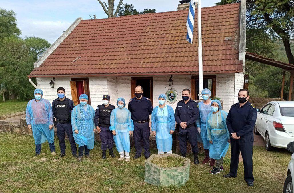 Foto: Vacunación en Villa Serrana (Lavalleja)