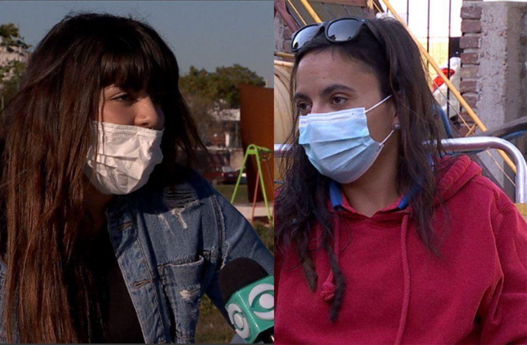 Ayrina y Florencia son beneficiarias de los Jornales Solidarios en Montevideo