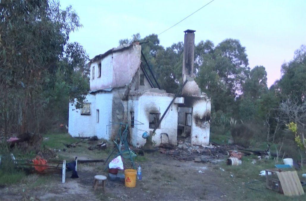 Una familia perdió todo en el incendio de su vivienda y pide colaboración para volver a empezar