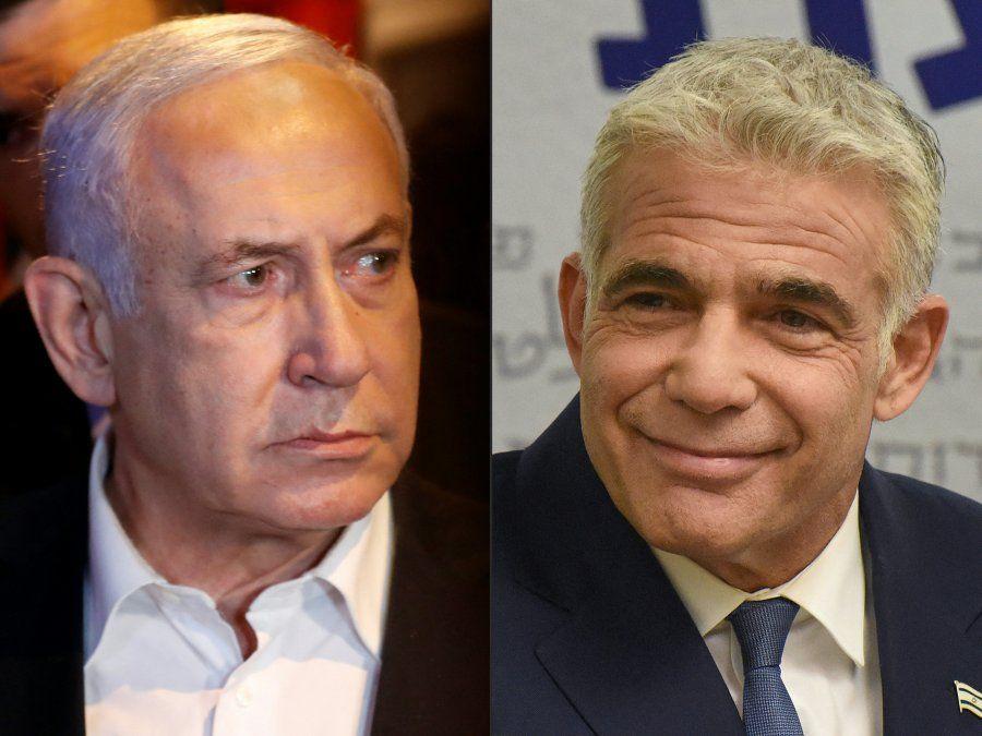 Netanyahu y Lapid