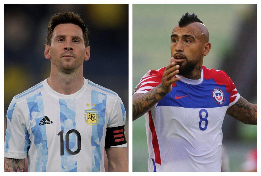 A los 34 años Messi busca su primer título con la albiceleste. Arturo Vidal