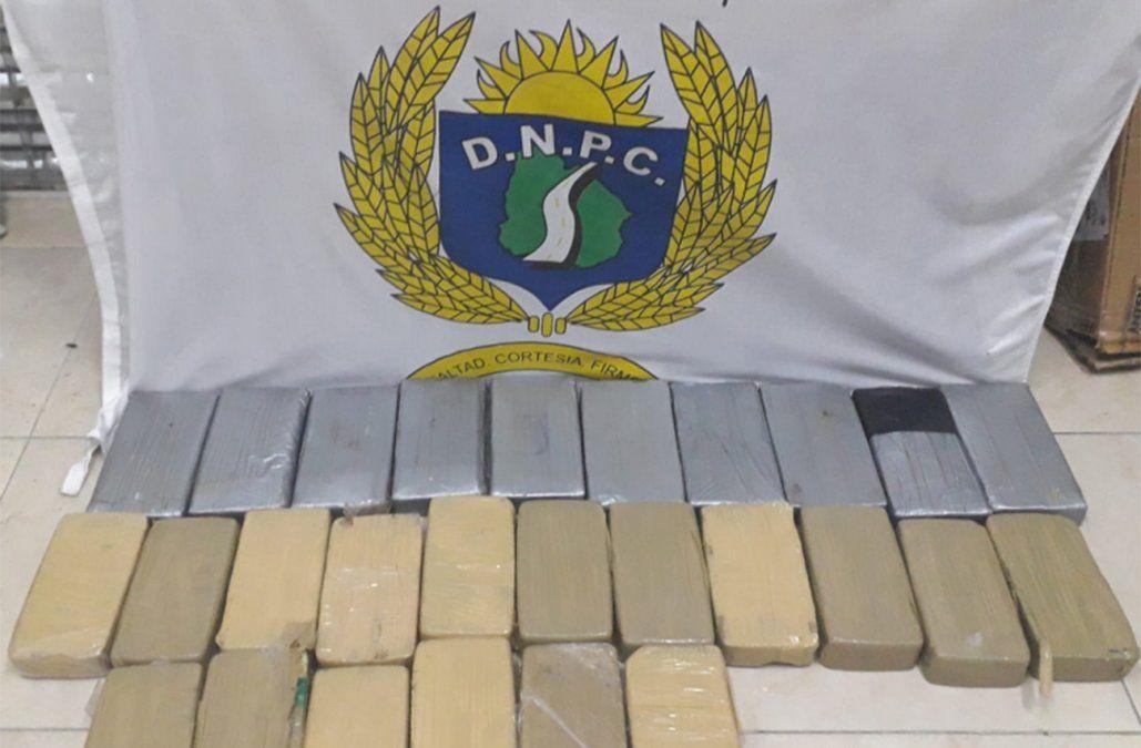 Prisión preventiva para los dos hombres que transportaban 28 kilos de droga