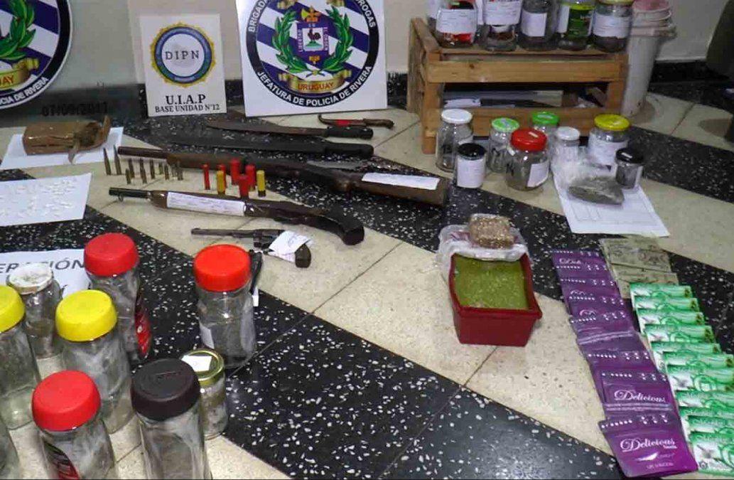 Once personas imputadas en Rivera por venta de drogas