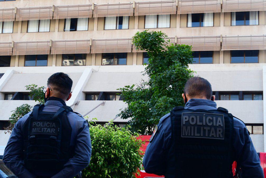 Así llegaba la Policía brasileña a detener al funcionario de AUF