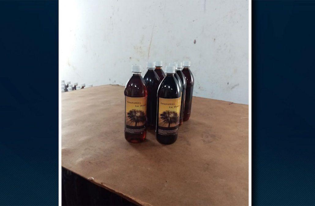 Incautaron más de 3.000 litros de grappamiel falsa en Canelones