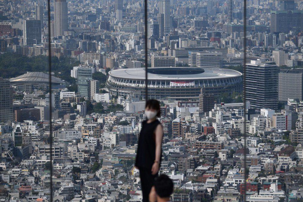 Una vista general muestra el Estadio Nacional