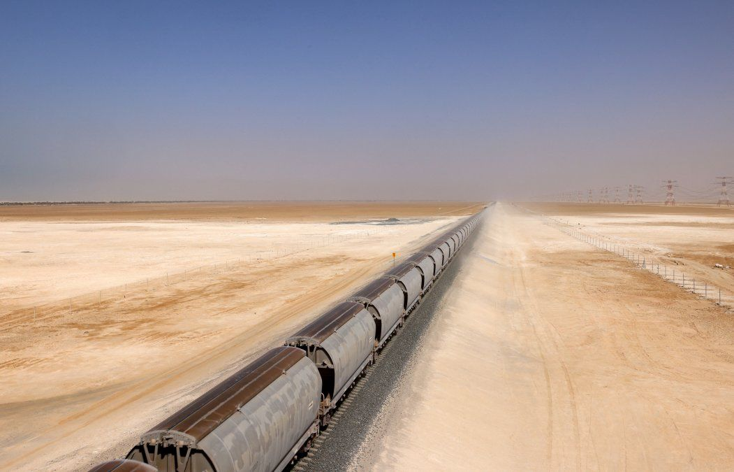 Un tren de la red Etihad Rail