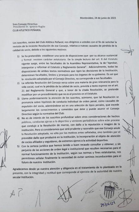 Socios de Peñarol exigen anular resolución de expulsar a quienes cometieron delitos graves