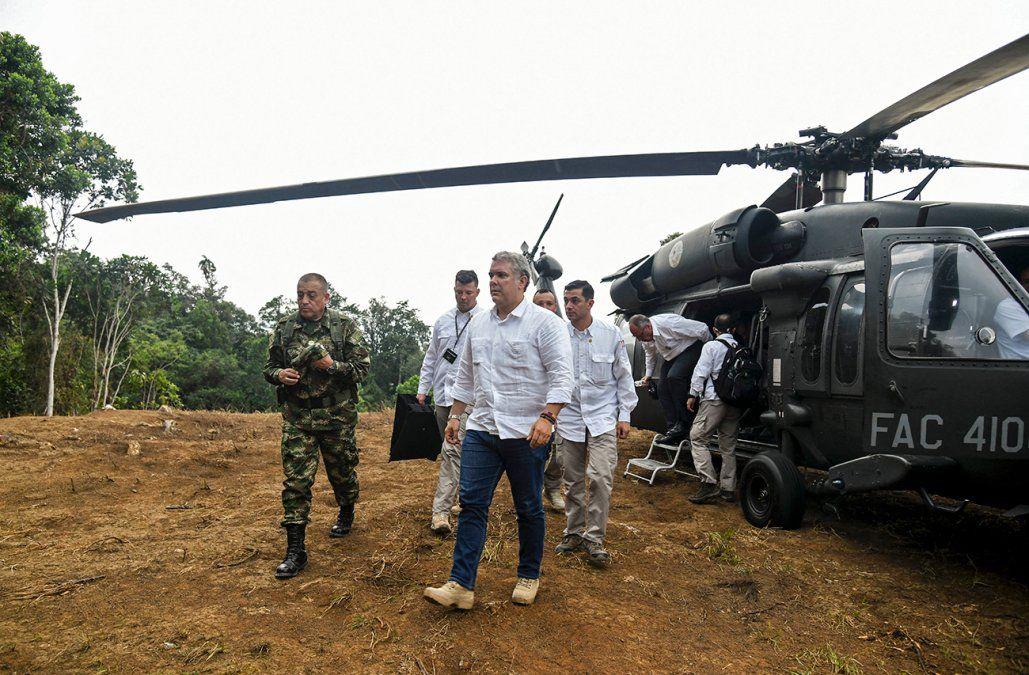 Atacaron a balazos helicóptero en el que viajaba el presidente Iván Duque