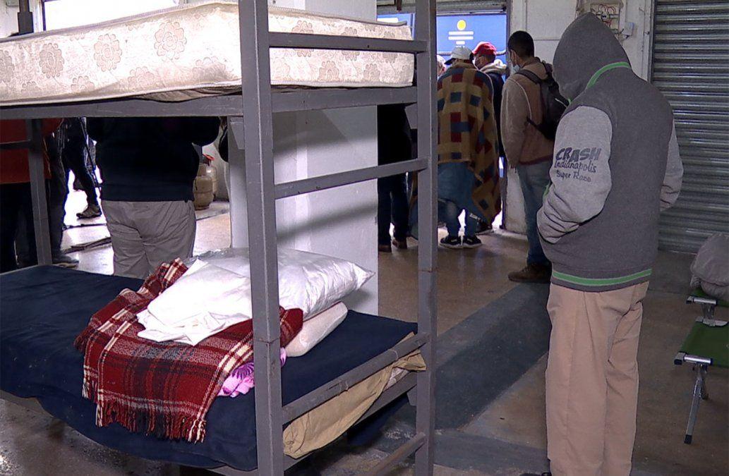 Frío polar: 3.900 personas pasaron la noche en refugios de todo el país