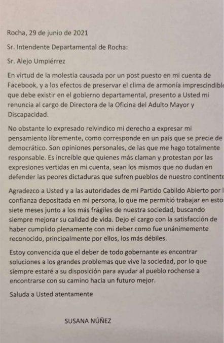 Renunció jerarca de la Intendencia de Rocha tras defender y elogiar a Gavazzo