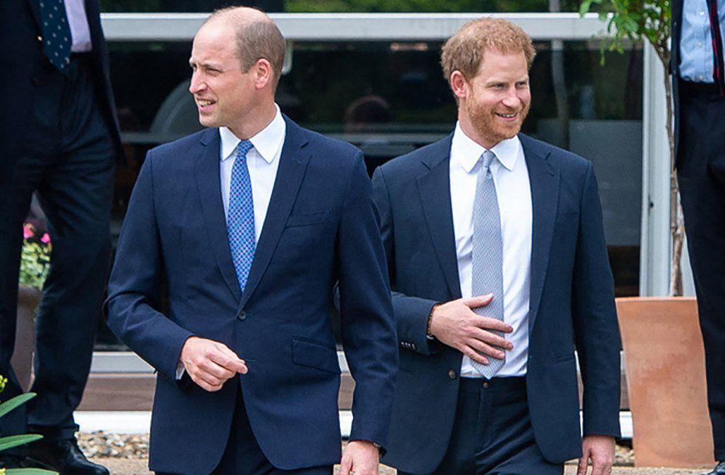 William y Harry se reencontraron para inaugurar estatua de su madre Diana