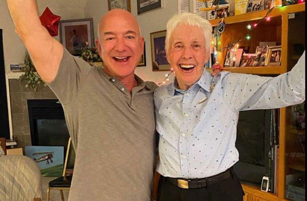 La aviadora Wally Funk de 82 años viajará con Jeff Bezos al espacio