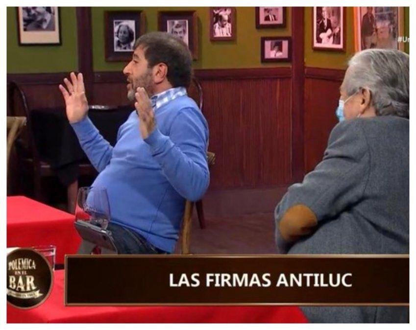 Fernando Pereira presidente del PIT-CNT estuvo este domingo en Polémica en el Bar de Canal 10