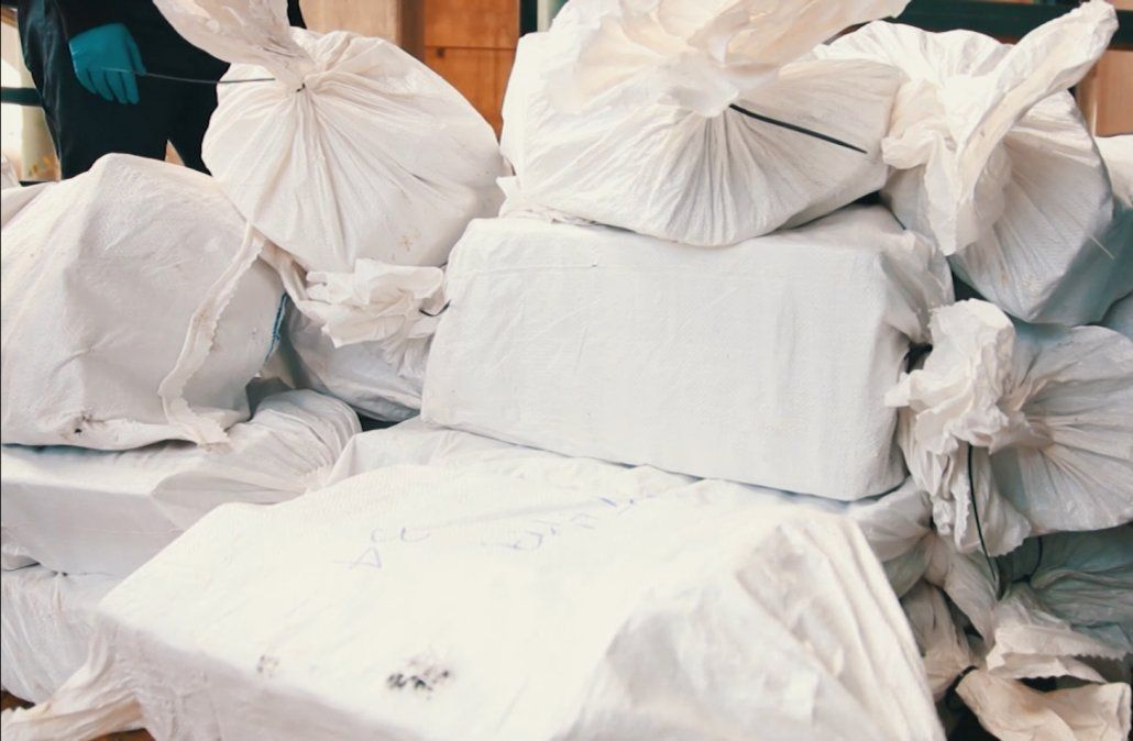 Foto: archivo (Ministerio del Interior). Cocaína incautada en Urugiuay.