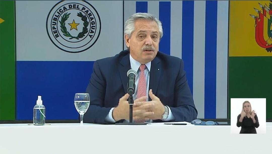 Nadie se salva solo, dijo Alberto Fernández en la apertura de la cumbre del Mercosur