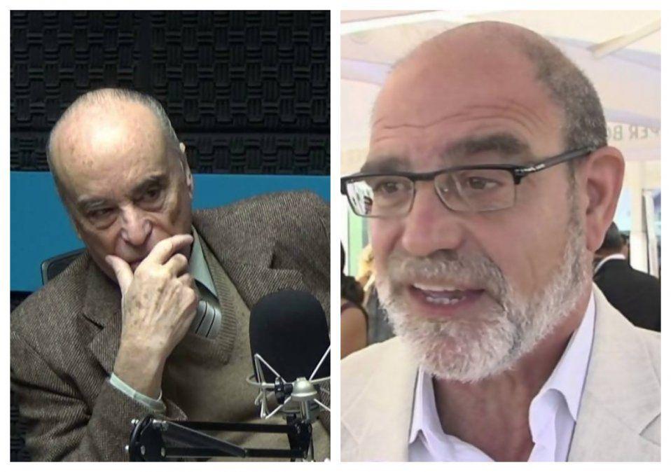 Ministros de la Corte Electoral José Arocena y José Ignacio Korzeniak