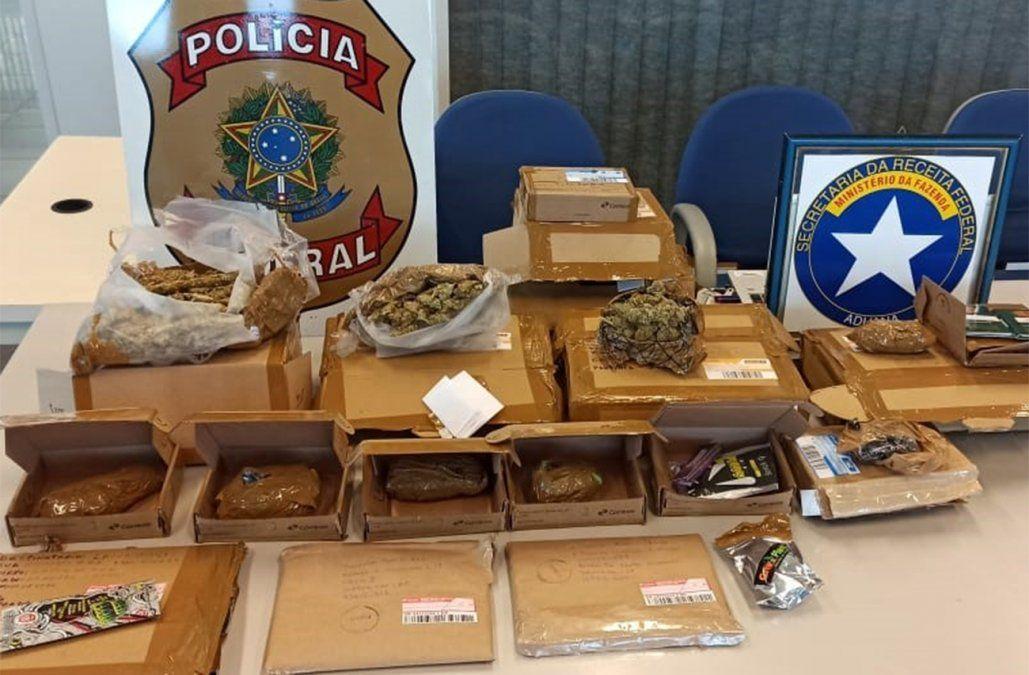 Organización brasileña compraba marihuana a cultivadores uruguayos y la distribuía por correo