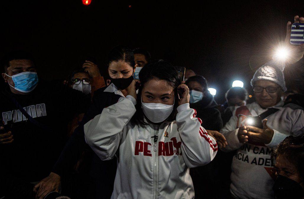 Keiko Fujimori insinúa que no va reconocer eventual victoria de Castillo