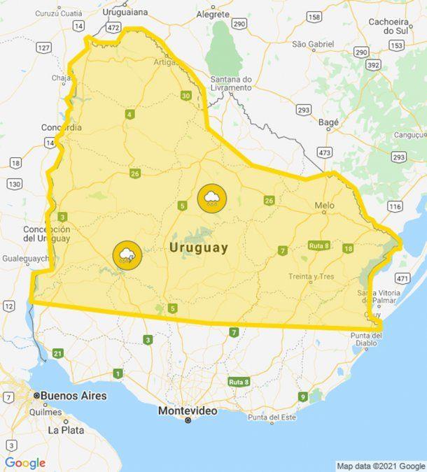 Rige ahora alerta amarilla por persistencia de tormentas y lluvias