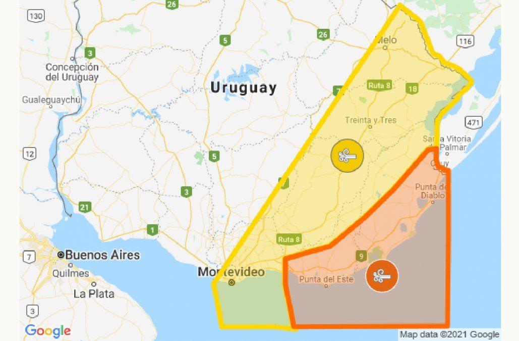 Rigen alerta naranja y amarilla por vientos fuertes y persistentes