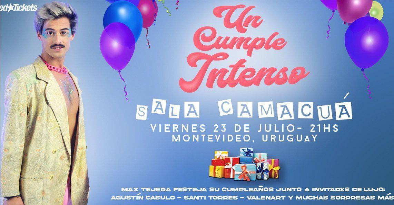 Max Tejera presenta Intenso en Sala Camacuá
