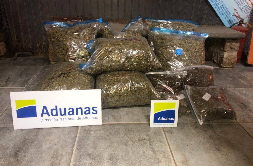 La marihuana incautada en el Chuy por la Aduana.