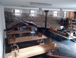 Se desplomó el techo del comedor de la Escuela Brasil durante el fin de semana