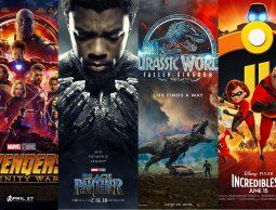 Cuatro films juntos superaron los 6.000 millones de dólares en 2018
