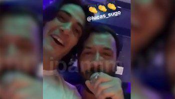Así festejó Cavani su cumpleaños junto a Di María y al ritmo de Lucas Sugo