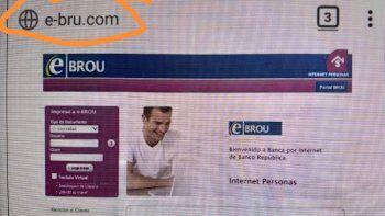 Alertan por página de e-BROU falsa ypiden a usuarios estar atentos
