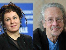 altText(Polaca Olga Tokarczuk y austriaco Peter Handke reciben Nobel de Literatura 2018 y 2019, respectivamente)}