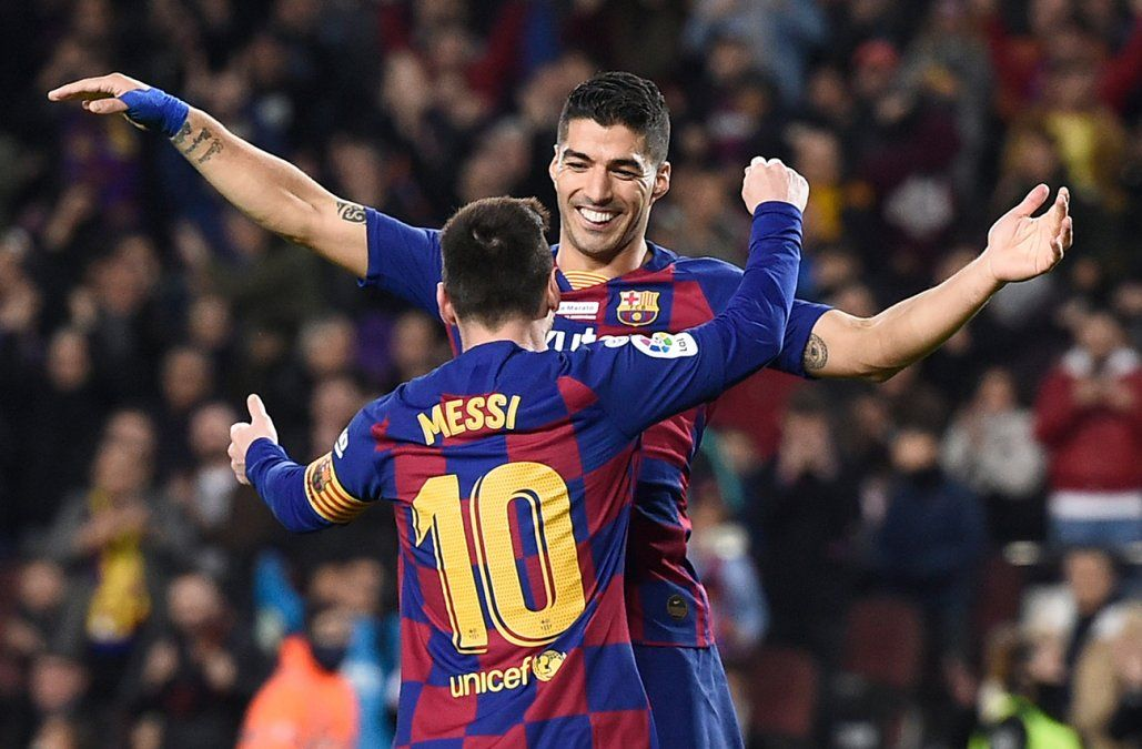 Una maravilla de Luis Suárez: anotó de taquito para el 5-2 del Barça frente al Mallorca