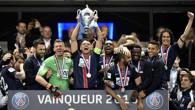 EL PSG es campeón de la Copa Francia con gol de Edinson Cavani