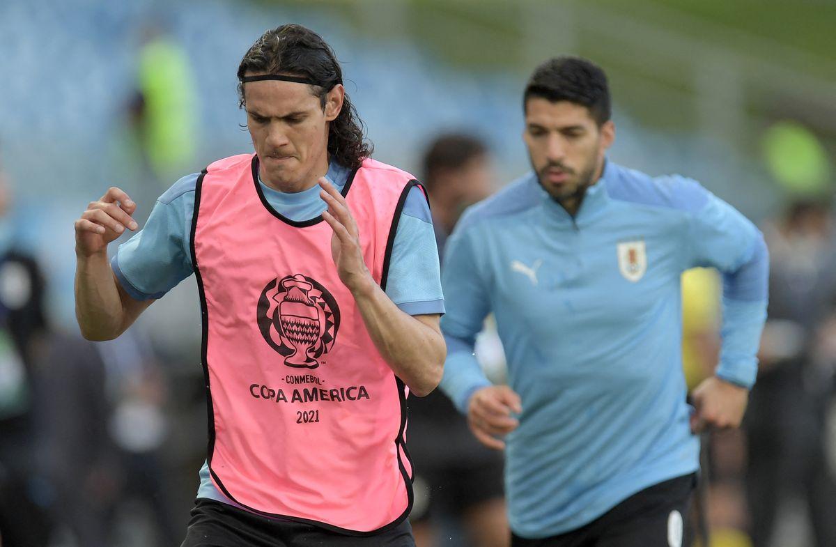 Equipos definidos en Uruguay y Brasil: Cavani y Suárez juntos; cambios en línea final norteña