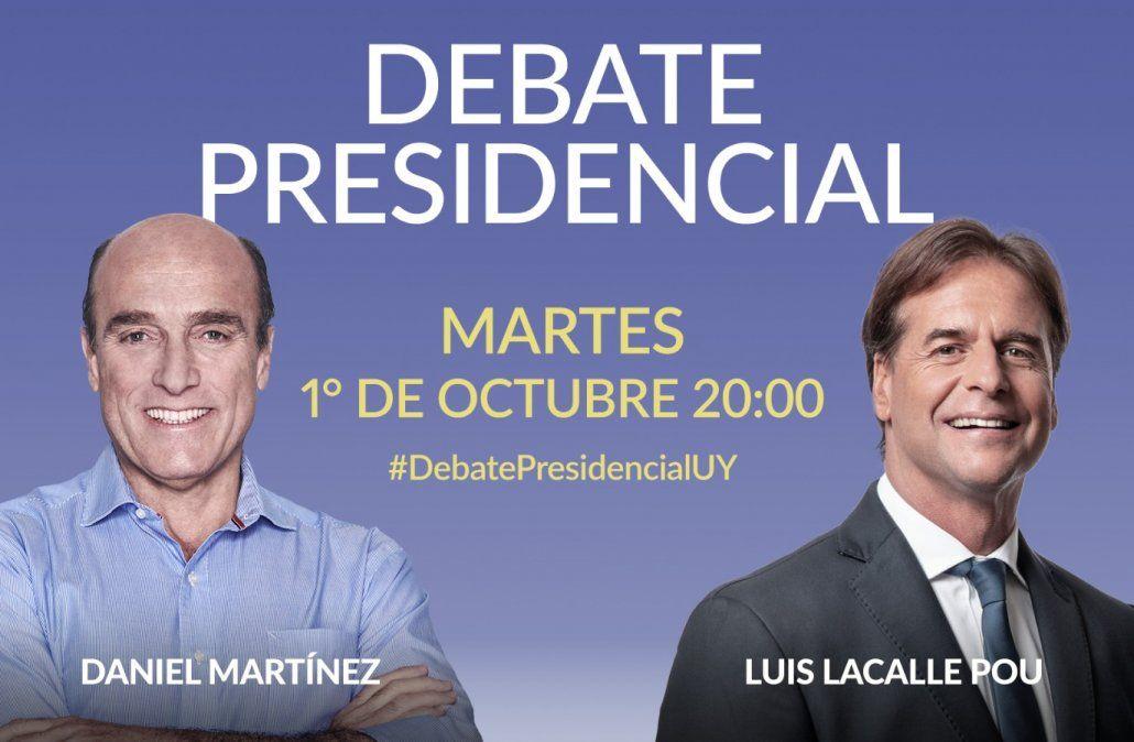 Noche histórica: Martínez y Lacalle Pou debatirán sobre economía, seguridad, desarrollo y futuro