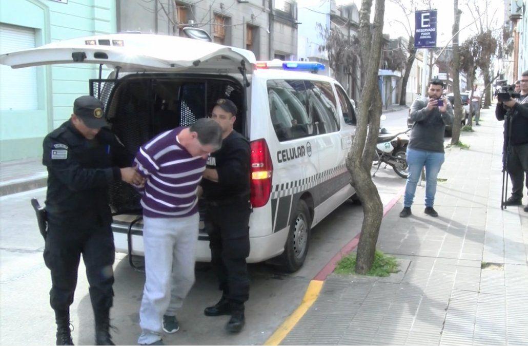 Foto: Gabriel Piston conducido por la Policía.