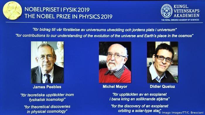 Nobel de Física al canadiense James Peebles y los suizos Mayor y Queloz
