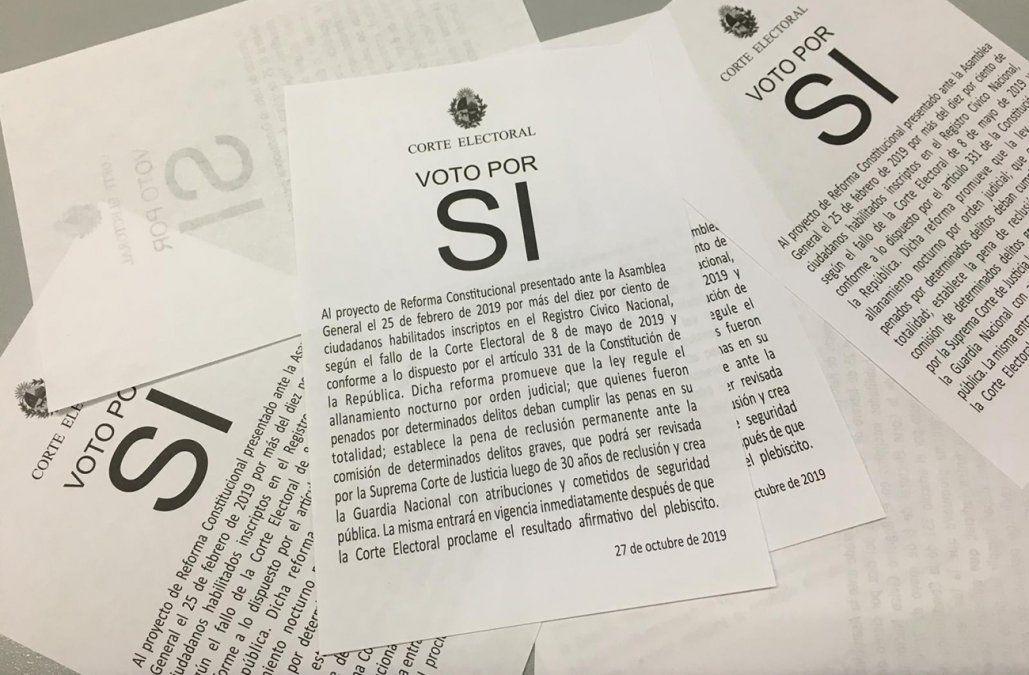 Vivir sin miedo: Larrañaga pide a votantes por el SI que lleven su boleta o exijan a la mesa