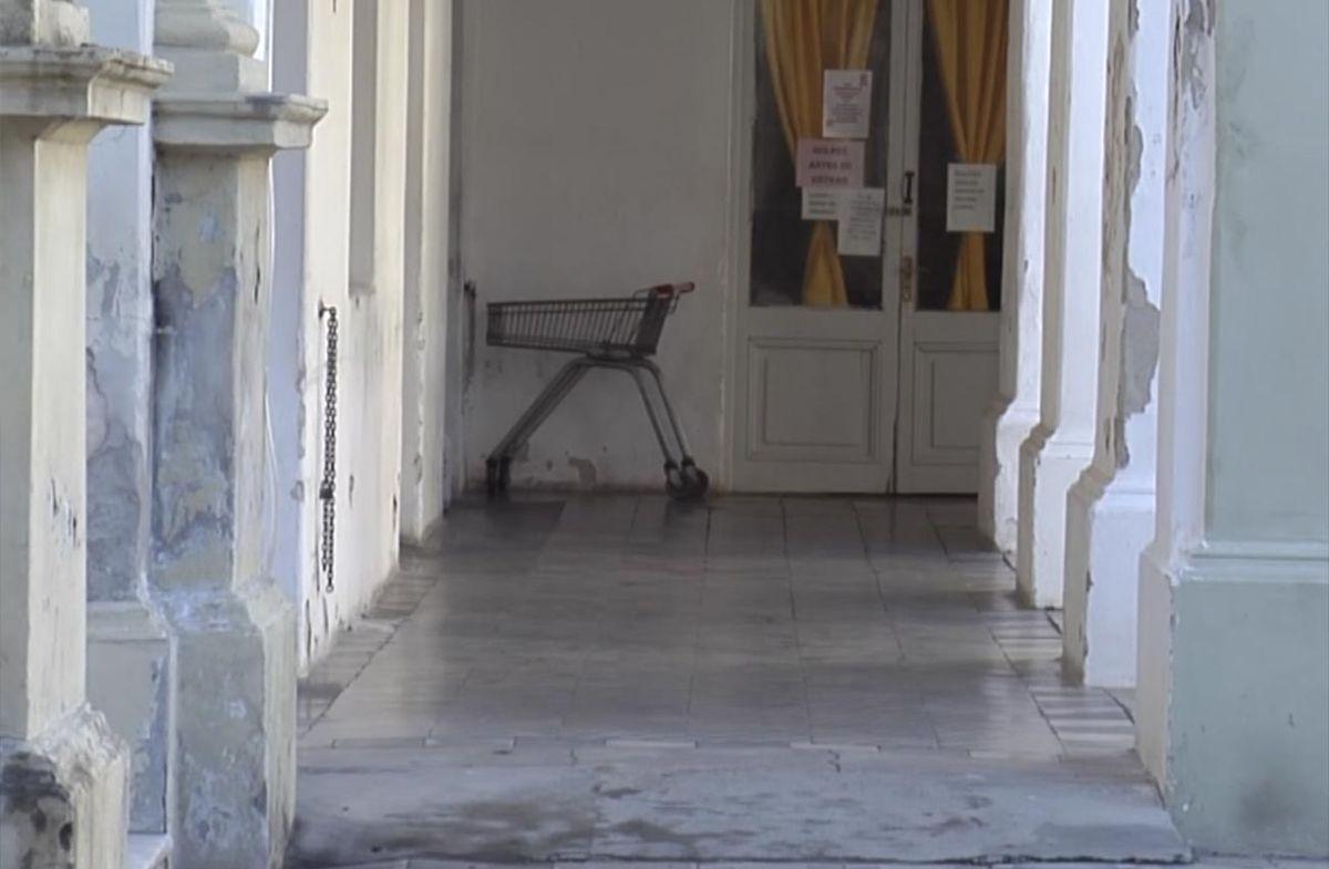 Pasillo interior del Hospital Vilardebó.