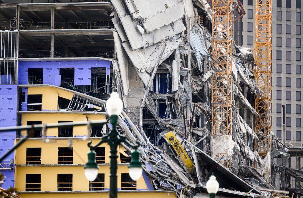 Un hotel se derrumbó en Nueva Orleans dejando dos muertos y tres desaparecidos