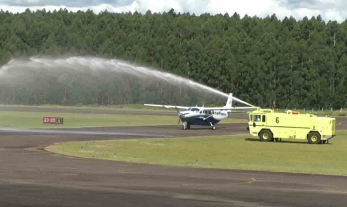 Llegó el primer vuelo desde Porto Alegre al Aeropuerto de Rivera