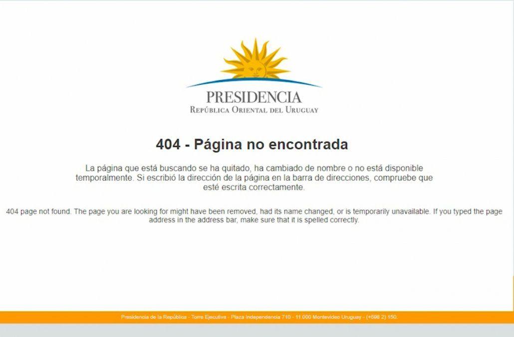 Presidencia bajó de su página web las notas de Murro tras la orden judicial
