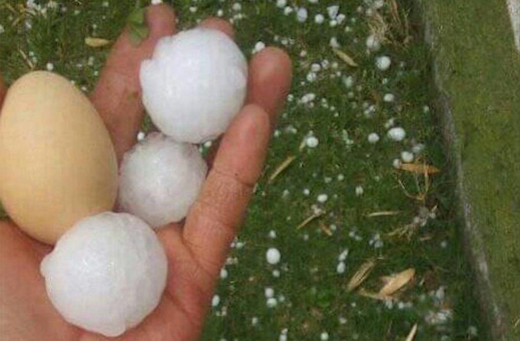 Lluvias intensas, fuertes tormentas y granizo en el litoral norte y parte del sur del país