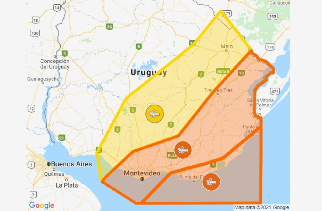 Continúan vigentes alertas naranja y amarilla por vientos muy fuertes y persistentes