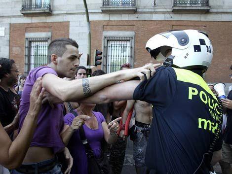 Manifestantes volverán a protestar en el centro de Madrid