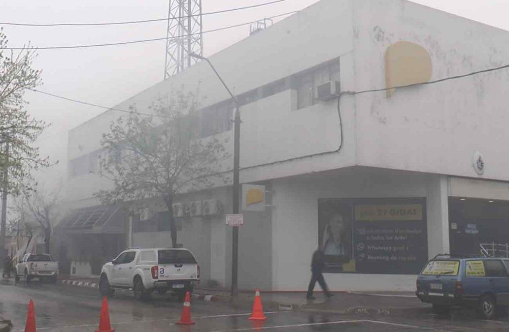 Se incendió una de las oficinas de Antel en Melo; la alarma no sonó