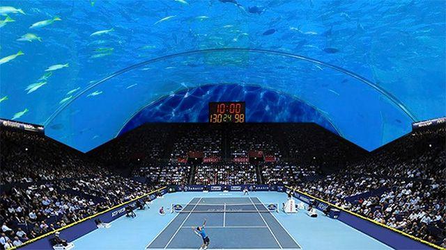 Dubai sigue sumando lujos: proyectan cancha de tenis submarina