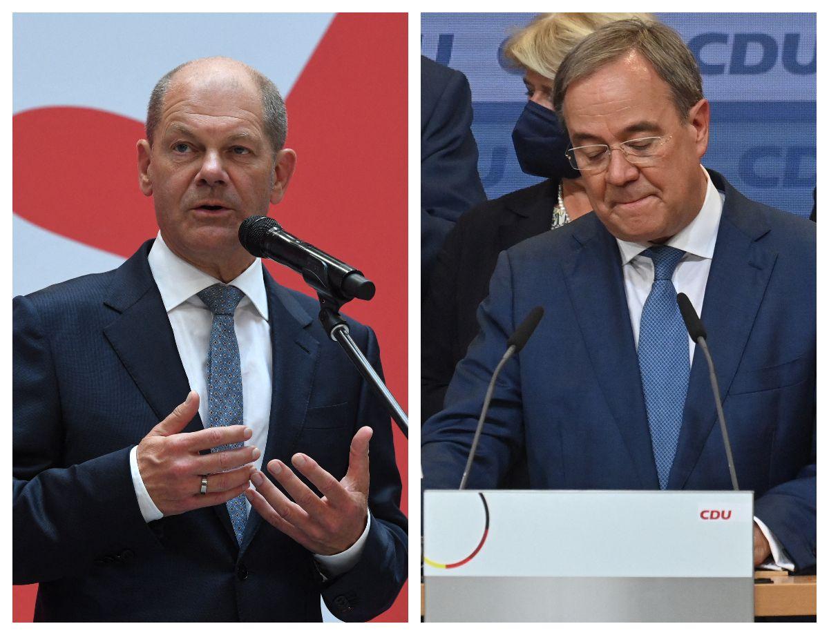 Olaf Scholz y Armin Laschet