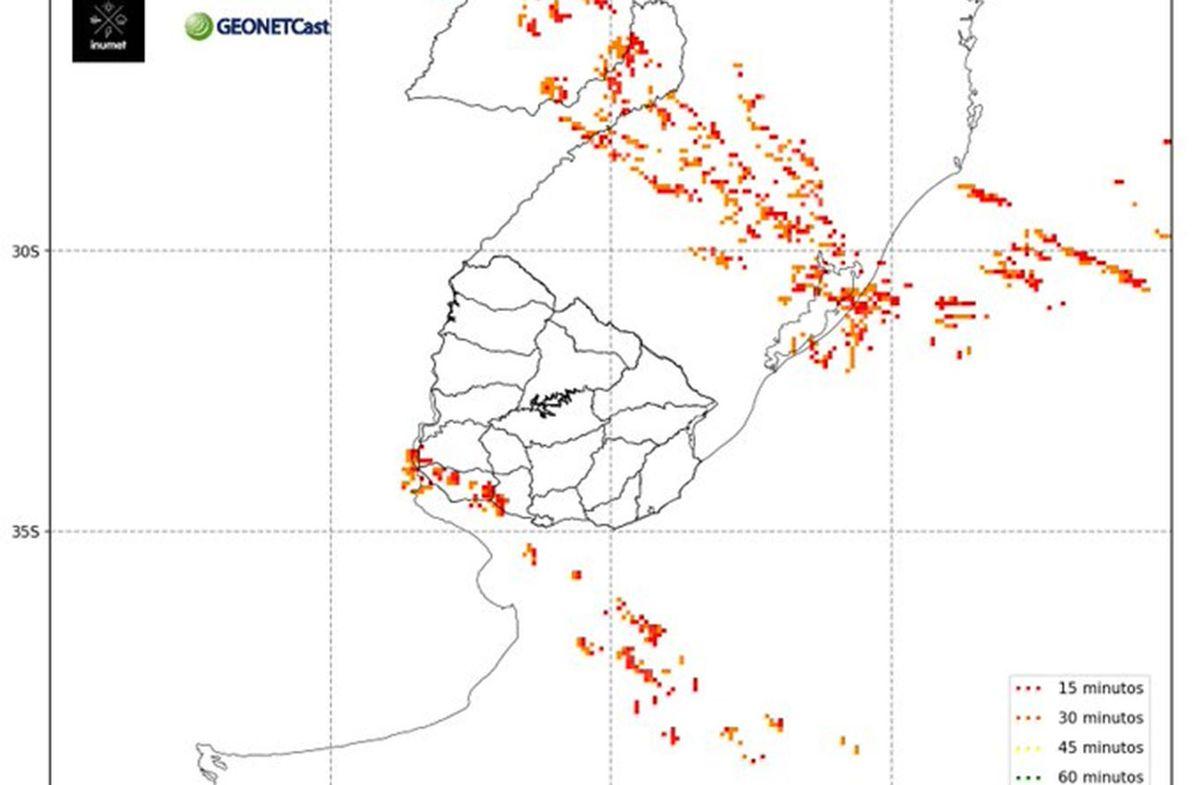 Meteorología emitió una alerta por tormentas y lluvias para el Suroeste